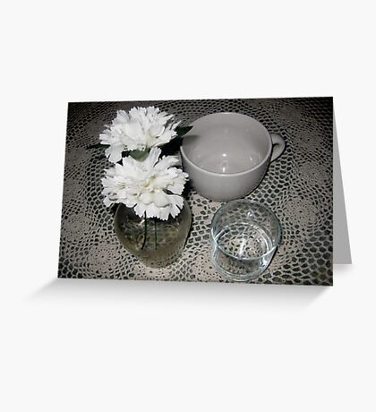 White Still Life  Greeting Card