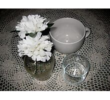 White Still Life  Photographic Print