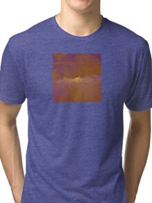 Sunset in Golden-Red and Purple Tri-blend T-Shirt