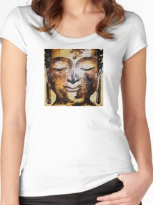 Buddha of Compassion 1 - Design 1 Women's Fitted Scoop T-Shirt