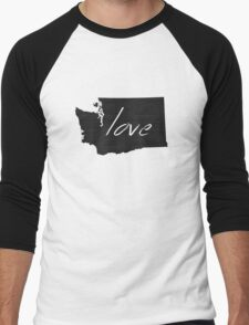 Love Washington Men's Baseball ¾ T-Shirt
