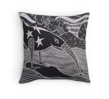 Prodigy - Linocut Throw Pillow