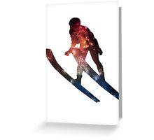 Galactic Skiier Greeting Card