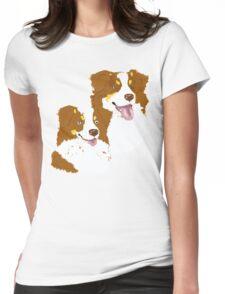 Red Tri Australian Shepherd Pair Womens Fitted T-Shirt