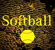 Softball in Yellow, Brown, and Black by Jessielee72
