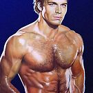 Jon Erik Hexum Color Pencil @ www.KeithMcDowellArtist.com by  Keith McDowell, Artist