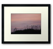 The day ends over the dunes Framed Print