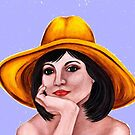 Yellow-hatted lady 178 views by Margaret Sanderson