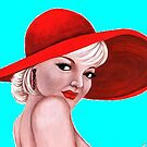 Red-hatted lady 311 views by Margaret Sanderson