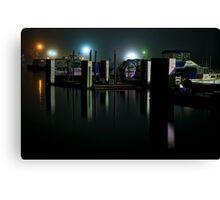 Night time at a Marina Canvas Print