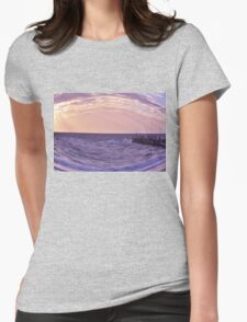Serenity beach Womens Fitted T-Shirt