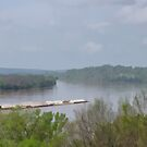 Barge on the Ohio River by Sandy Keeton