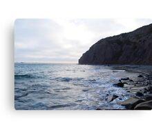 Cliff N Sea Canvas Print