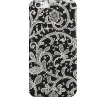 Lace Black Background. Seamless Pattern. iPhone Case/Skin