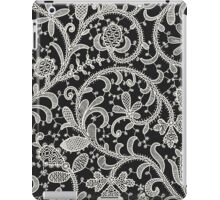 Lace Black Background. Seamless Pattern. iPad Case/Skin