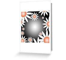Flower Daises Background Greeting Card