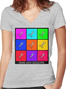 Runs With Scissors Women's Fitted V-Neck T-Shirt