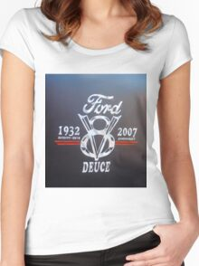 Ford V8 Women's Fitted Scoop T-Shirt