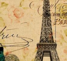vintage butterfly paris eiffel tower fashion Sticker