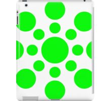 Green Polka Dot Pattern iPad Case/Skin