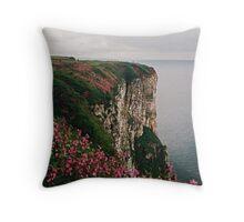 Bempton Cliffs Throw Pillow