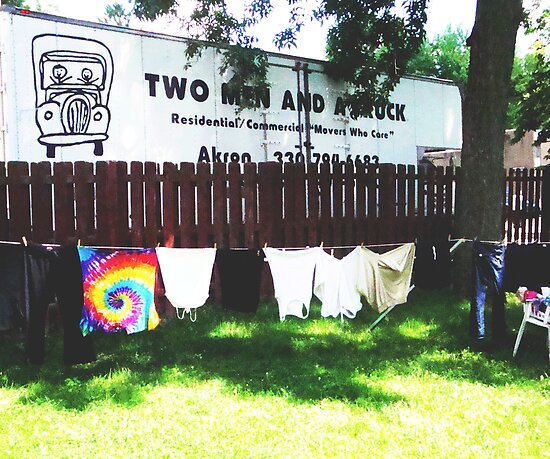 Two Men, a Truck, and Some Laundry by lroof