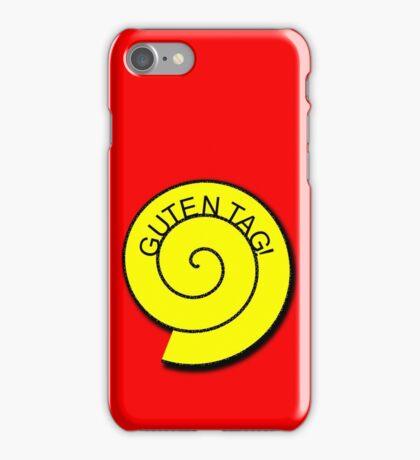 """Buttons """"Guten Tag"""" rot, gelb unt schwarz iPhone Case/Skin"""