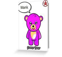 Geek Girl - SwearBear - Wank Greeting Card