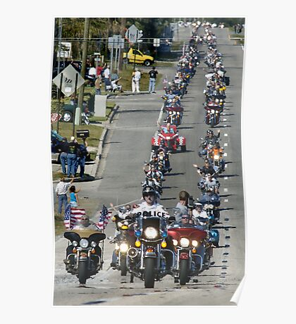 Motorcycle parade Poster
