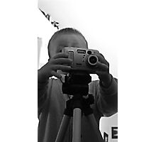 a young photographer  Photographic Print