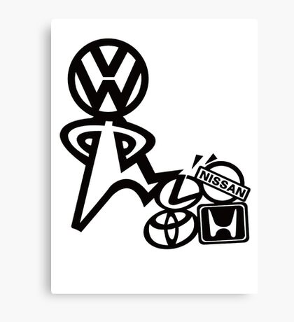 vw steppin on  Canvas Print