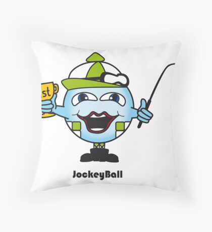 Jockey Ball Throw Pillow