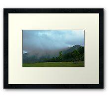 Fog on the Mountains Framed Print