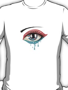 Red Blue Colors Eye T-Shirt