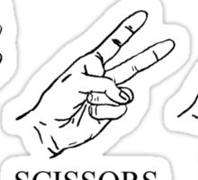 Paper, Scissors, Rock n Roll Sticker