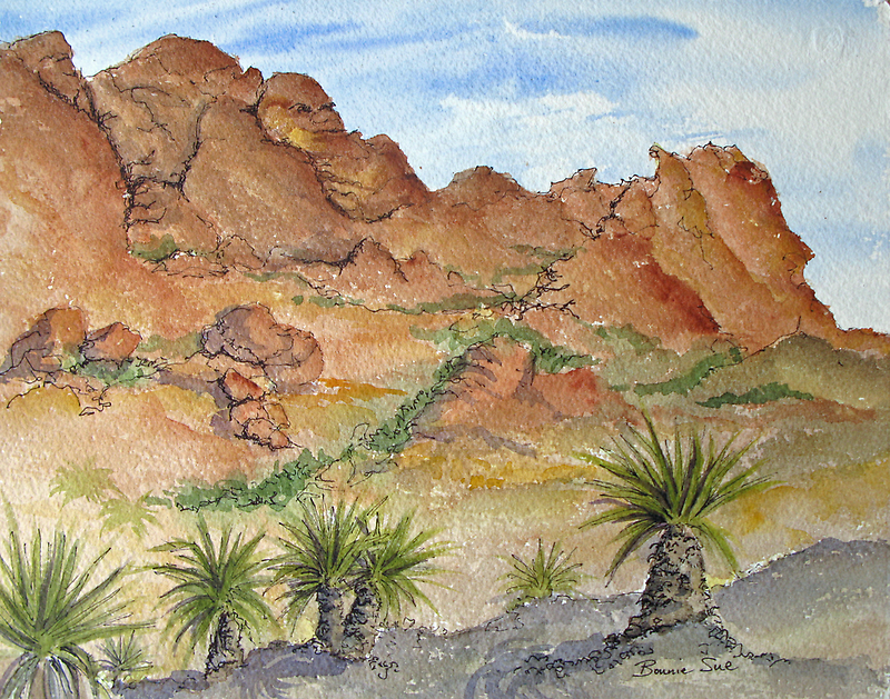 Calico Hill in Red Rock Canyon, Nevada by BonnieSue