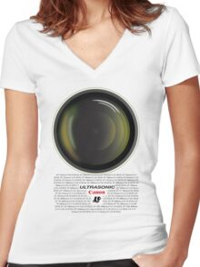 Canon Ultrasonic Women's Fitted V-Neck T-Shirt
