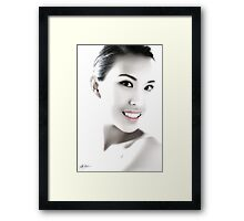 Illuminated Beauty Framed Print