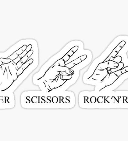 Sex, Drugs, Paper Scissors Rock 'n' Roll. Sticker
