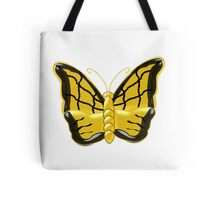 Yellow Butterfly Design Tote Bag