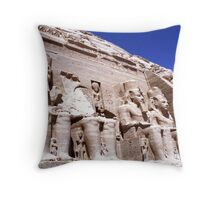 Temple of Ramesses II Throw Pillow