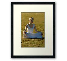 rain meditation Framed Print