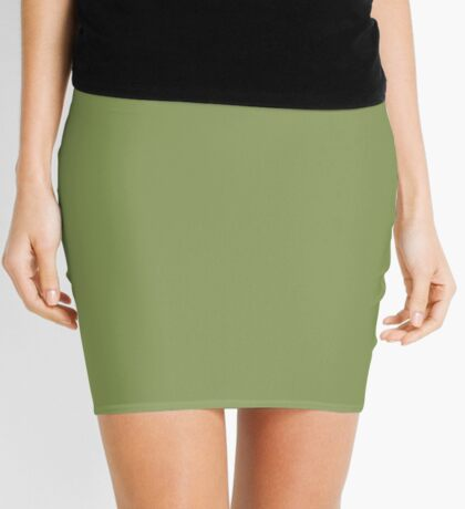 Moss Green  Mini Skirt