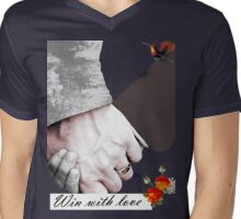 Win with Love Mens V-Neck T-Shirt