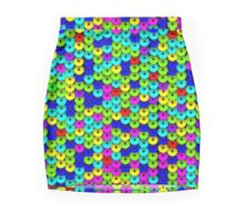 Multi-colored Sequins Seamless Pattern Mini Skirt