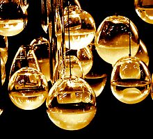 Glass Baubles golden by Scott Chalmers