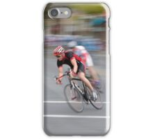 Cyclists Speeding into the Curve iPhone Case/Skin