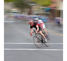 Cyclists Speeding into the Curve Photographic Print