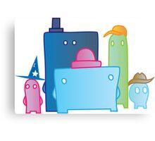 Little Dudes (Illustrated) Canvas Print