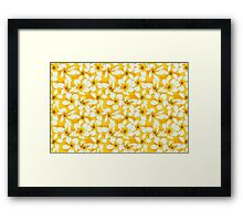 Plumeria and Frangipani. Seamless Pattern with Yellow Flowers Framed Print
